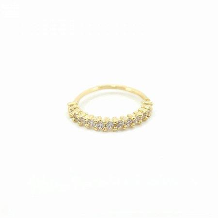 Piercing de Argolinha Dourada Folheada com Zircônias