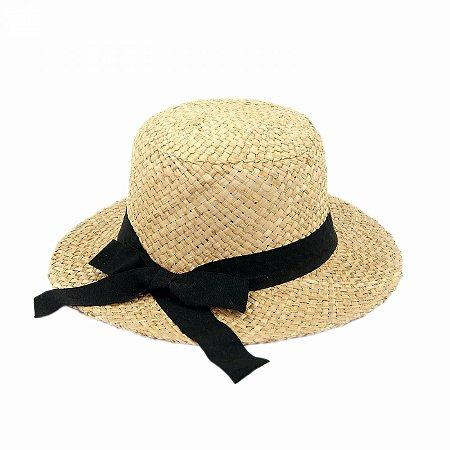 Chapéu de Praia em Palha com Fita e Laço