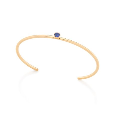 Bracelete Aro Fino Azul Rommanel