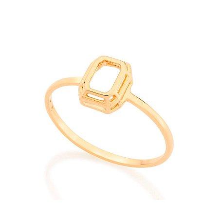 Anel Skinny Ring Retangular Rommanel