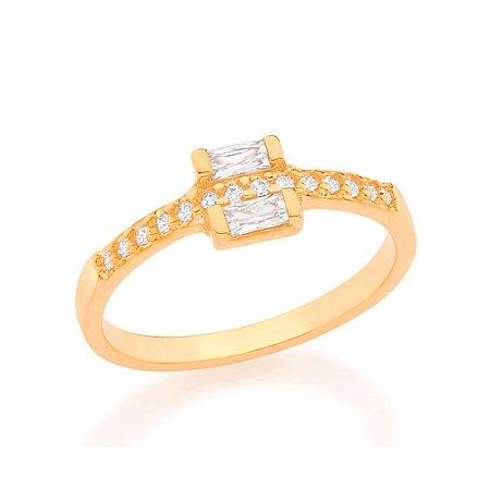 Anel Skinny Ring Cravejado Rommanel