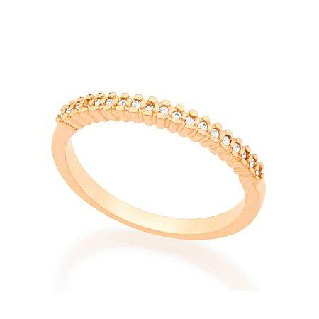 Anel Skinny Ring Cravejado Incolor Rommanel