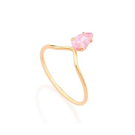 Anel Solitário Skinny Ring Rosa Rommanel