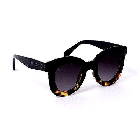 Óculos de Sol Grande Retrô Azul e Tartaruga