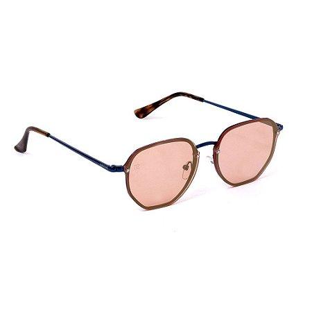Óculos de Sol Classic Azul Espelhado