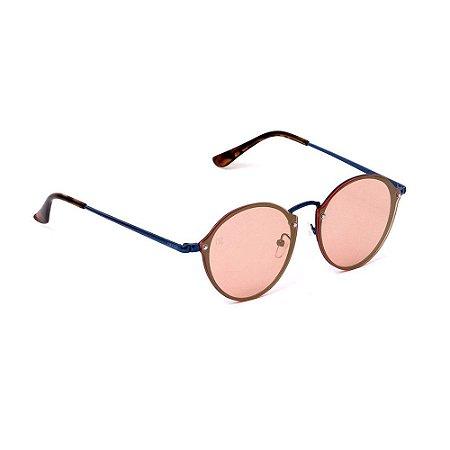 Óculos de Sol Classic Redondo Laranja Espelhado