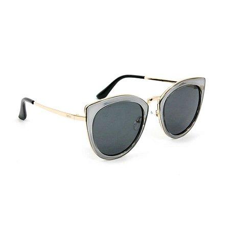 Óculos de Sol Gatinha Dourado e Grafite