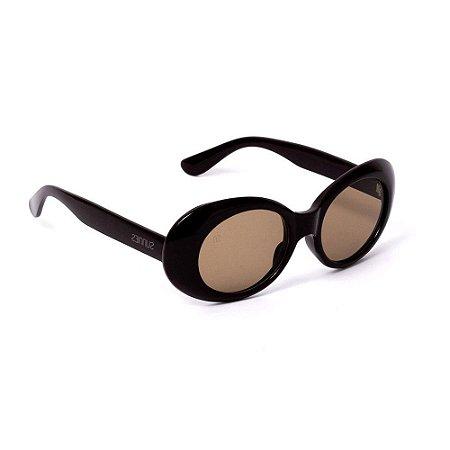 Óculos de Sol Oval Marrom