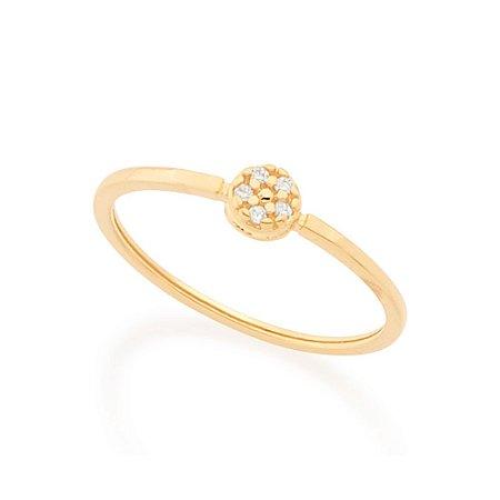 Anel Skinny Ring Zircônias Rommanel