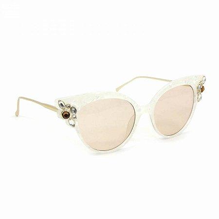 Óculos de Sol Gatinha com Pedras