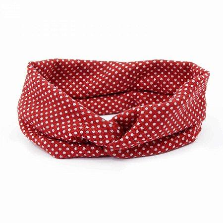 Headband Poá Vermelha