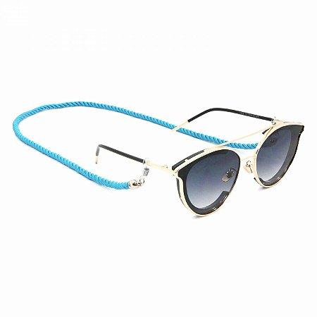 Cordão Torcido Azul para Óculos