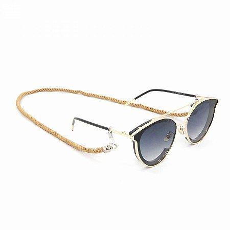 Cordão Torcido Dourado para Óculos