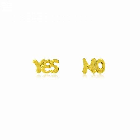 Brinco YES e NO Dourado