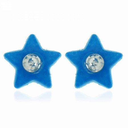 Brinco Estrela Azul Neon