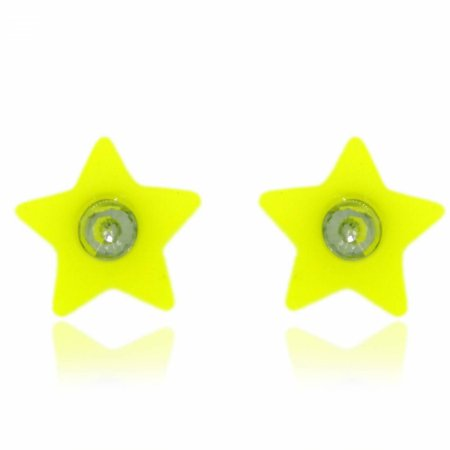 Brinco Estrela Amarelo Neon