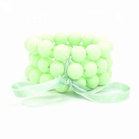 Pulseira Tripla de Bolas Verde