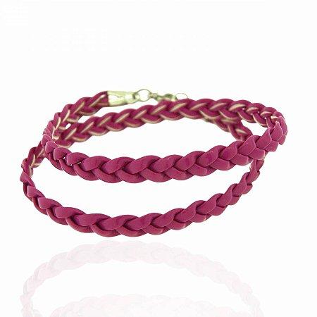 Pulseira Trançadinha Rosa Pink