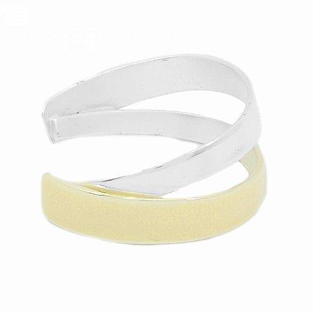 Pulseira Bracelete Prateada Dupla Off White