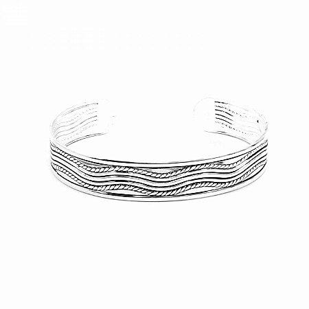 Pulseira Bracelete Prateada Boho Style