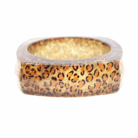 Pulseira Bracelete Onça com Glitter