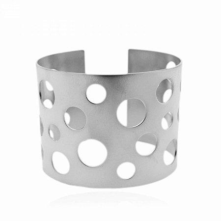 Pulseira Bracelete Leaked Balls Prateada