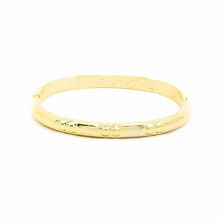Pulseira Bracelete Dourada com Detalhe