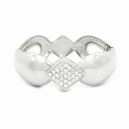 Pulseira Bracelete Detalhes com Strass