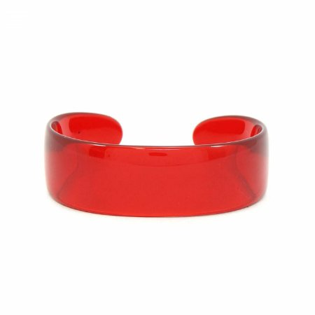 Pulseira Bracelete Acrílico Vermelho Transparente