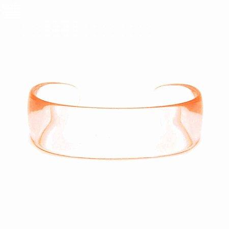 Pulseira Bracelete Acrílico Laranja Transparente