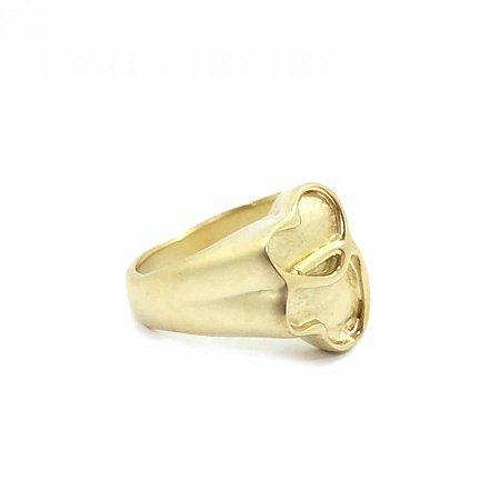 Anel Dourado Fosco de Borboleta