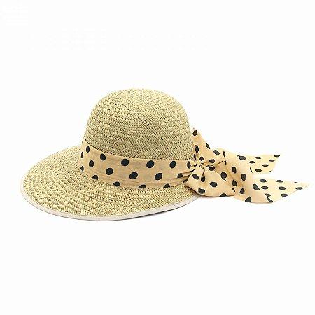 Chapéu tipo Viseira com Faixa Poá