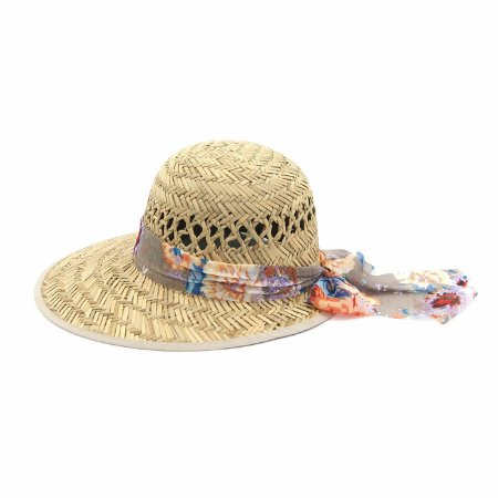 Chapéu tipo Viseira com Faixa Floral