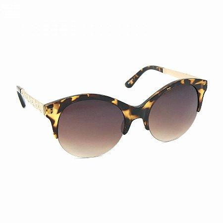 Óculos de Sol Marrom Tigrado