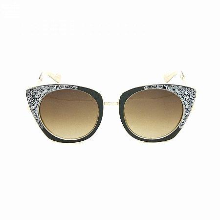 Óculos Feminino Marrom Desenhos