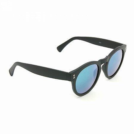 Óculos de Sol Preto Espelhado Colorido