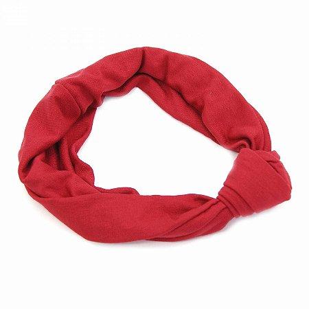 Headband Turbante Vermelha com Nó