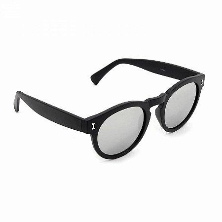 Óculos de Sol Espelhado Preto