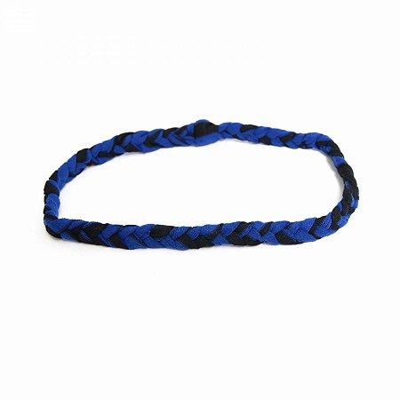 Tiara Headband Azul e Preta