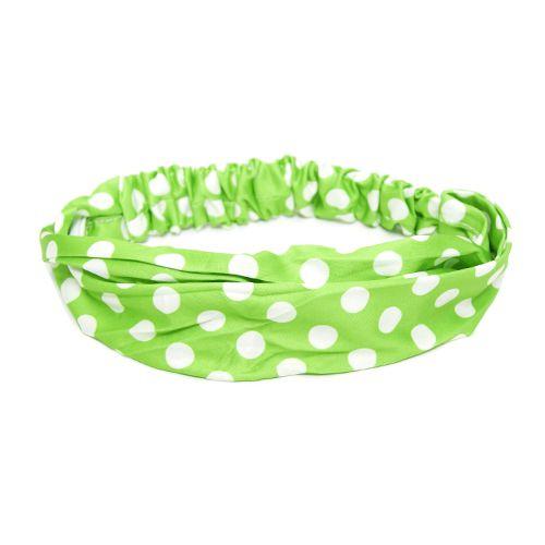 Headband Verde de Bolinhas