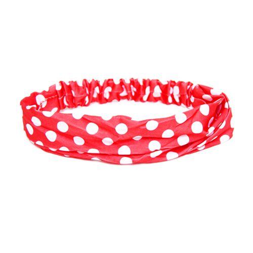 Headband Vermelha de Bolinhas