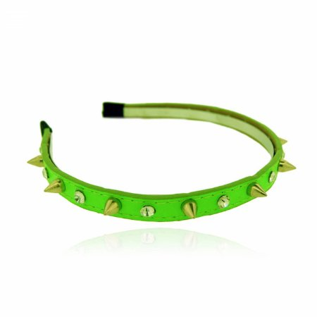 Tiara Spike e Strass Verde Neon