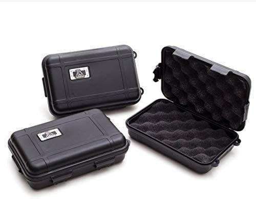 Kit com 3 Cases para Piteiras de Vidro Squadafum SDF Preto