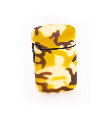 Isqueiro Maçarico ZengaZ Camuflado Amarelo