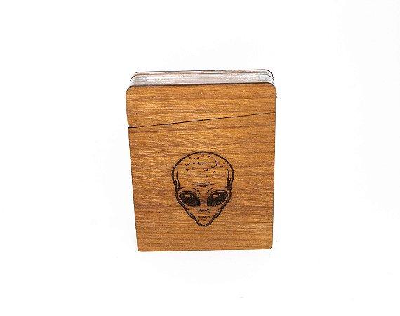 Cigarreira de madeira ET