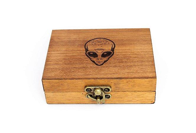 Caixa organizadora de madeira ET