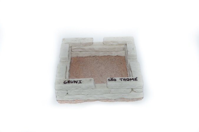 Cinzeiro quadrado de pedra São Thomé - Grande