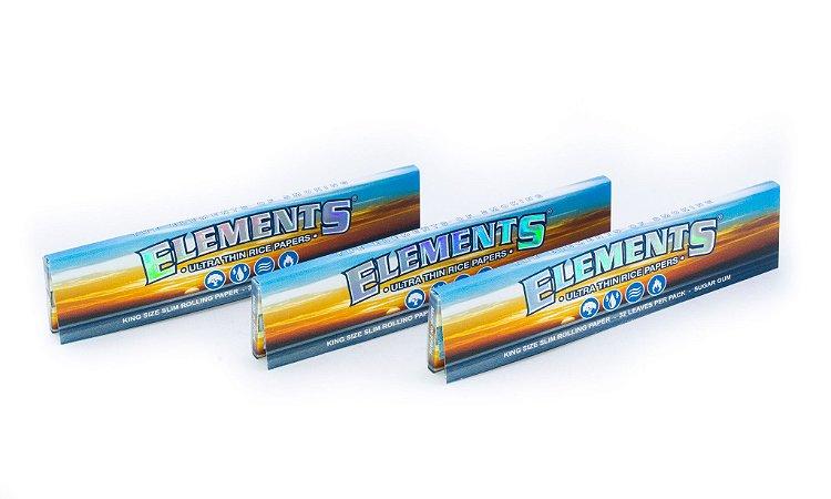 Pack com 3 sedas Elements King Size Slim