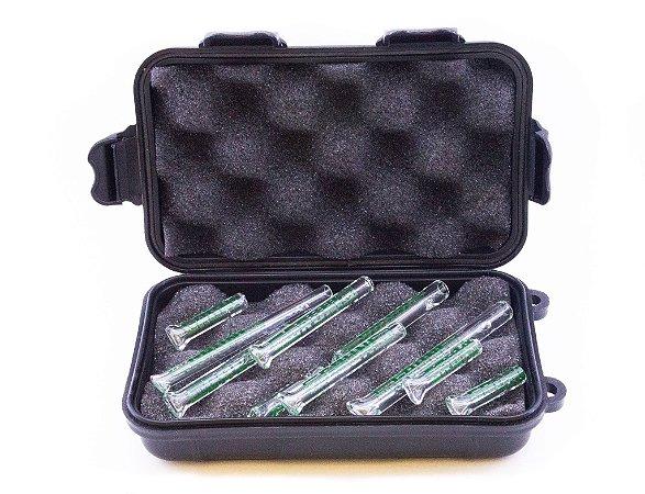 Pack com case Squadafum + 10 piteiras de vidro Gruni