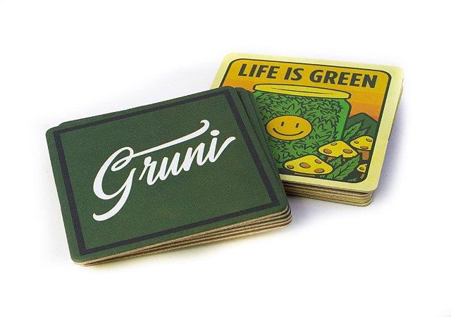 """Porta copos Gruni edição """"Life is Green"""""""